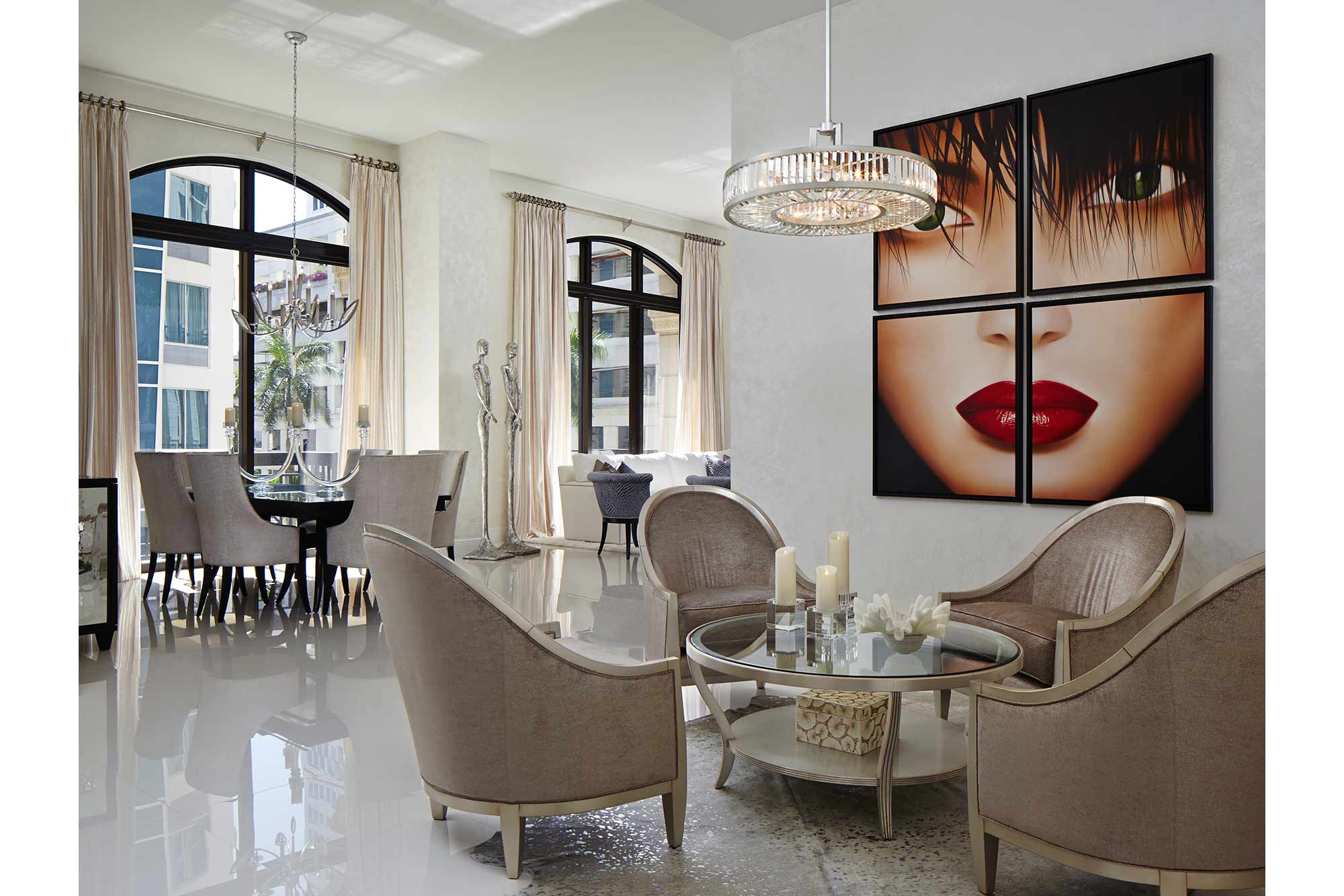 Palm beach urban glamor annie santulli designs luxury palm beach interior design Palm beach interior designers