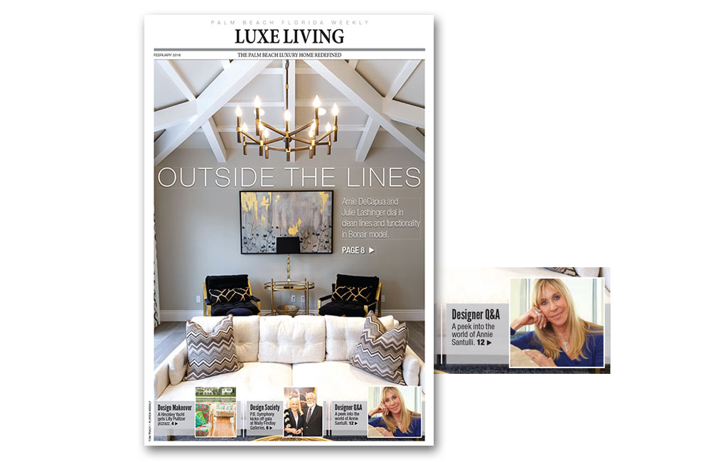 Palm Beach Florida Weekly Luxe Living interior design